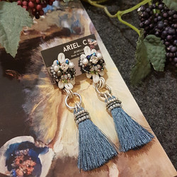 | ARB012 | Denim Blue Earrings