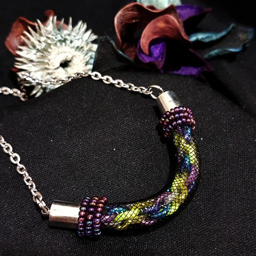 | ARF005 | Kumihimo necklace(Purple)