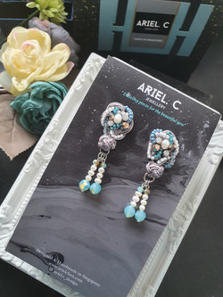 | AROF15| 湖- Ripple Flow Earrings