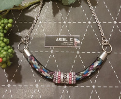 | ARML09 | Pink Tubular Necklace