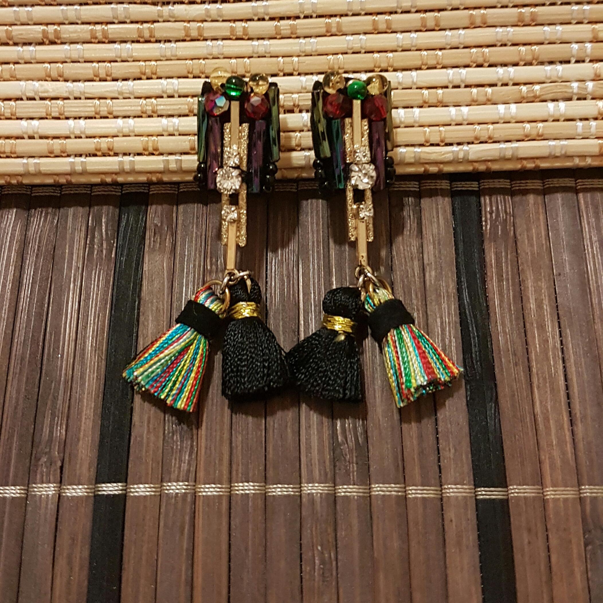   ART003   Aztec Rainbow Earrings