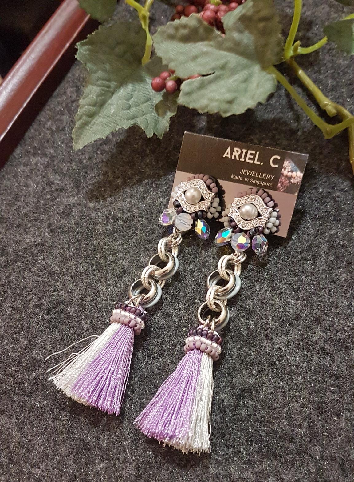 | ARB015 | Silver Grey Earrings