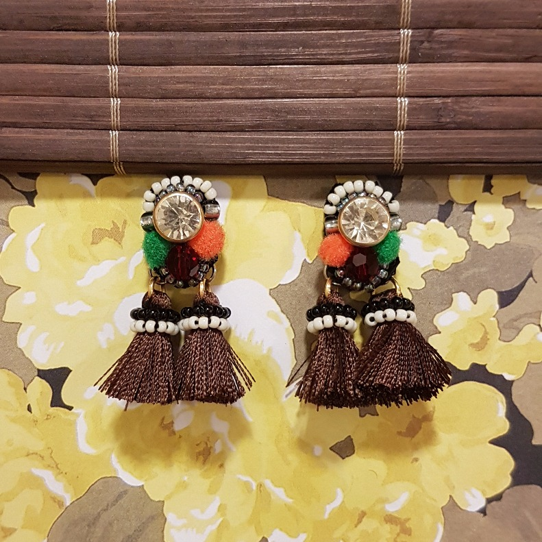   ART023   Brown Summer Earrings