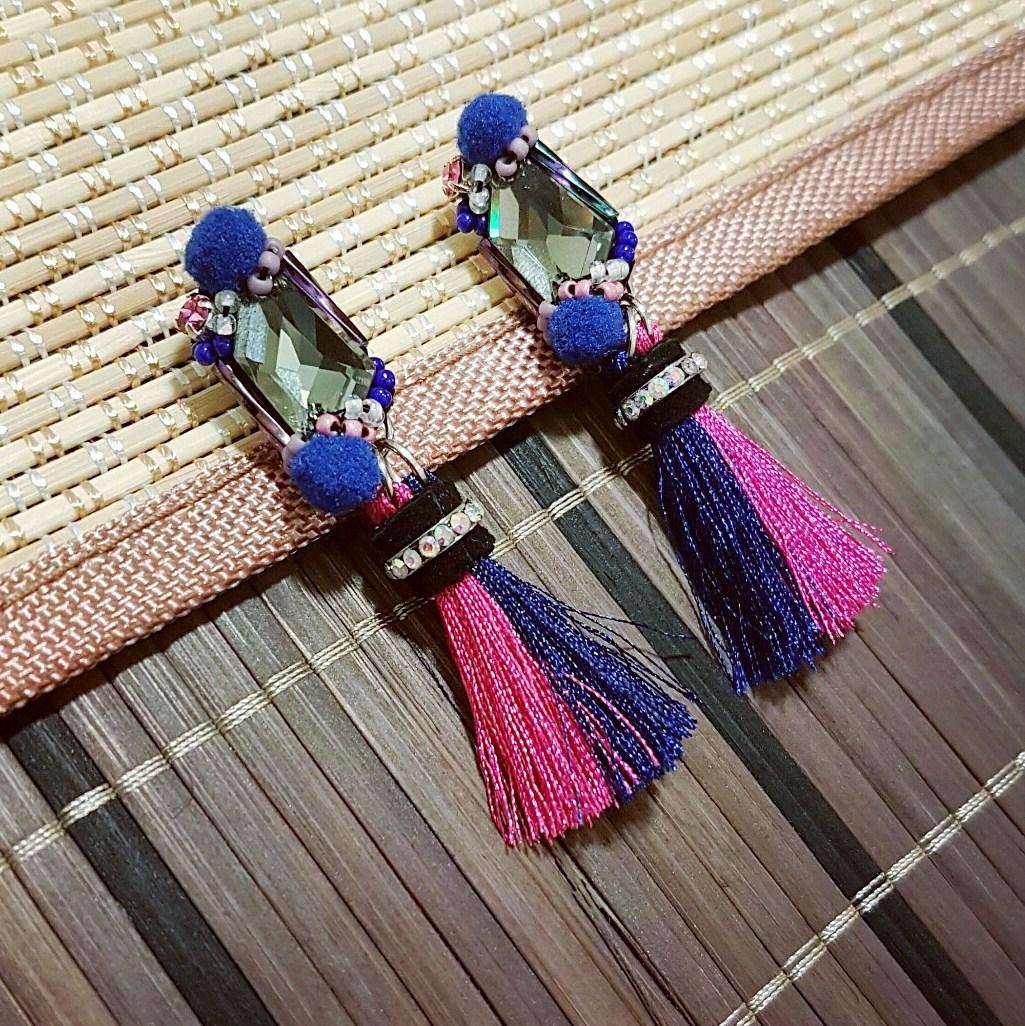   ART007   Duo tone Earrings