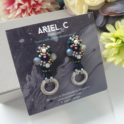 | AROF09| 婷- Onyx Nightfall Earrings
