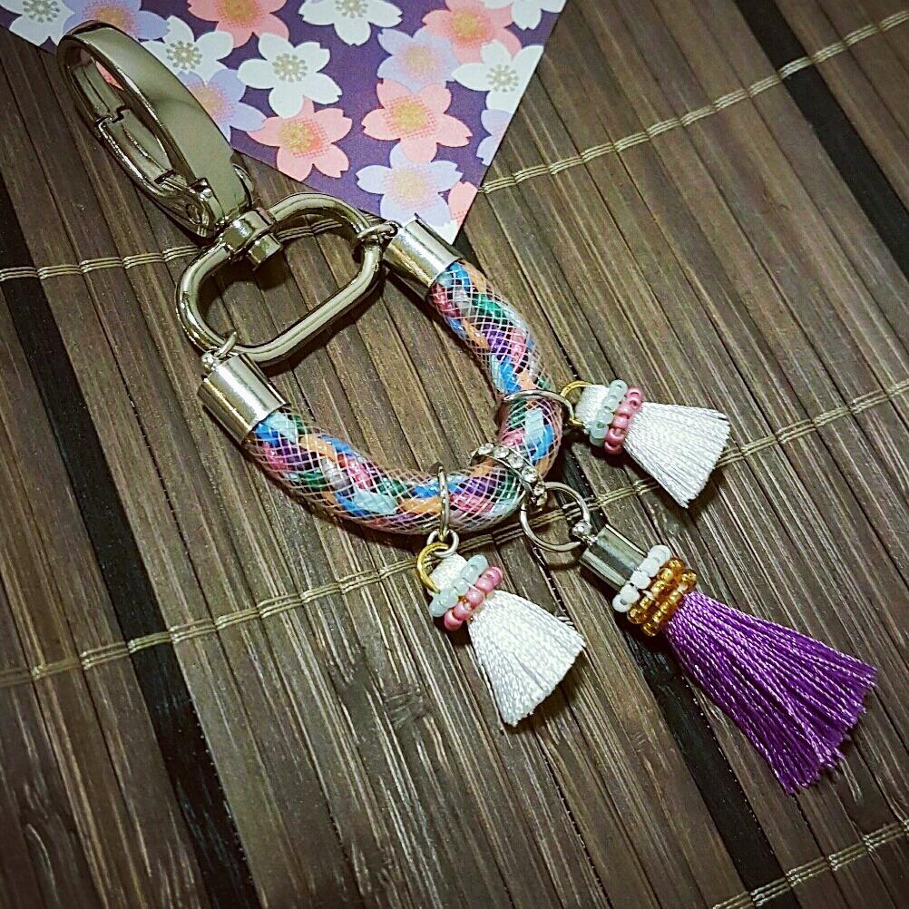   ART026   Tassel Bag Charm/keyring