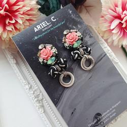 | AROF07| 淑- Charming Rose Earrings