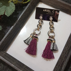| ARB019 | Maroon High Low Earrings