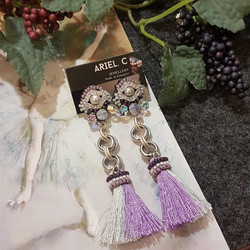 | ARB013 | Silver Lilac Earrings