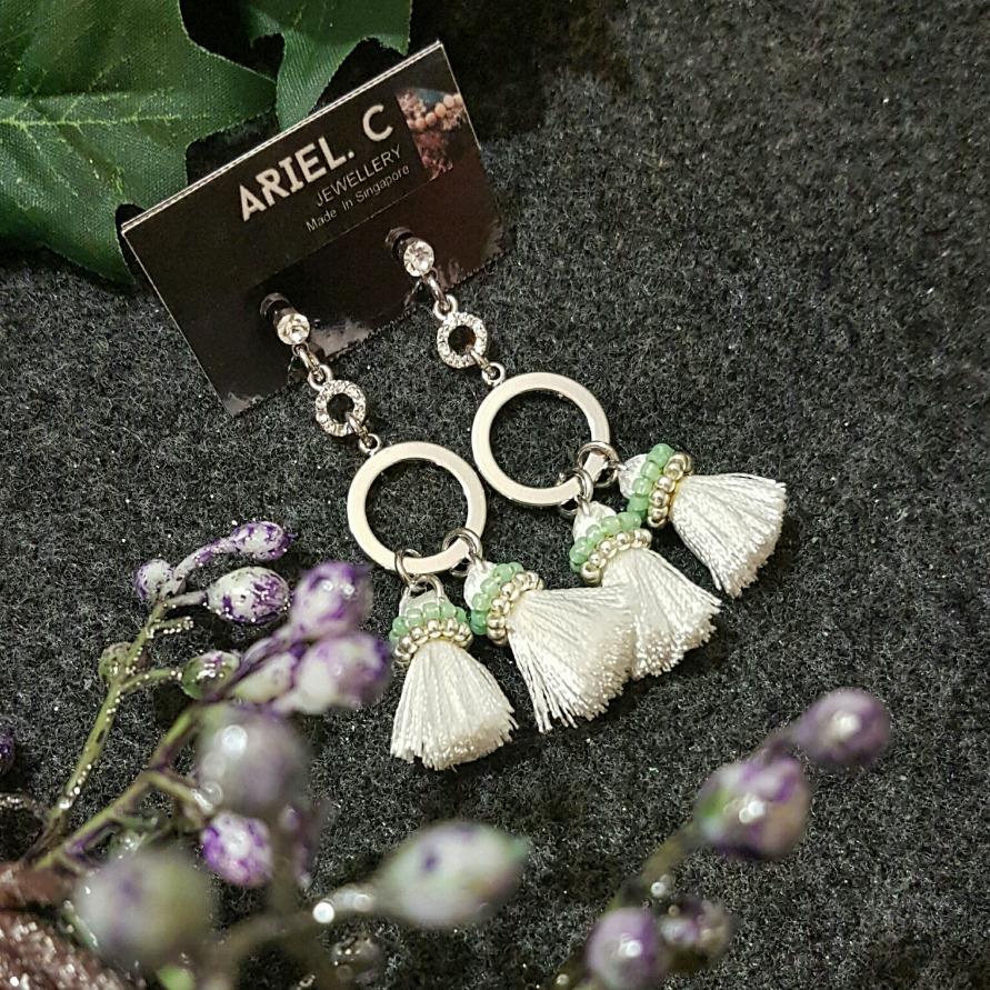 | ARX014 | Tassel Blanc Earrings