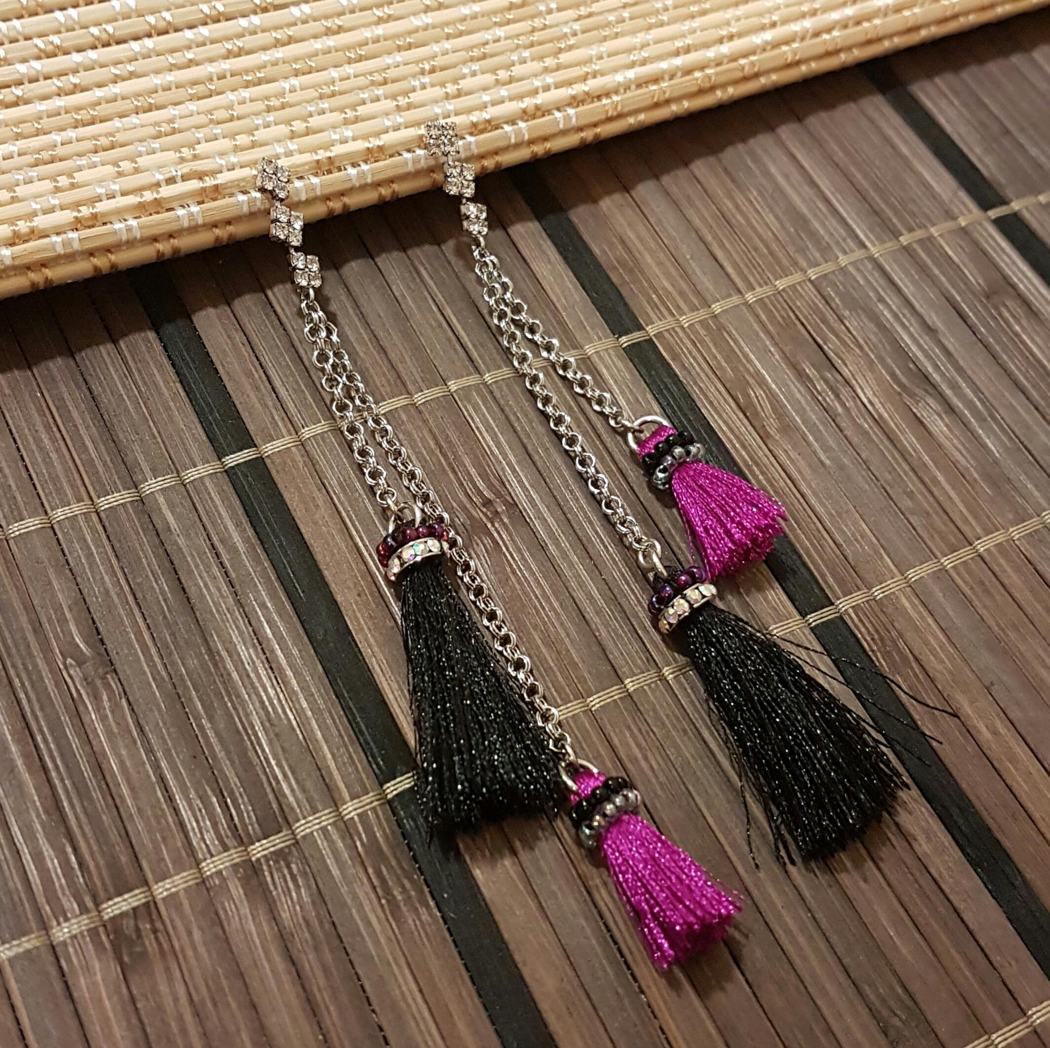   ART014   Long Tassel Earrings