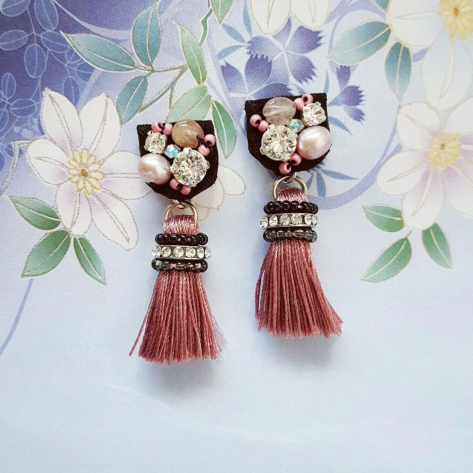 |ARS005| Vintage Pink Earrings