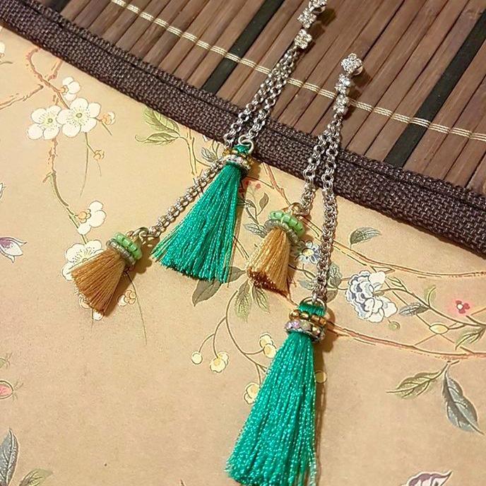   ART027   Long Tassel Earrings
