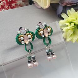 | AROF10| 碧- Resplendent Green Earrings