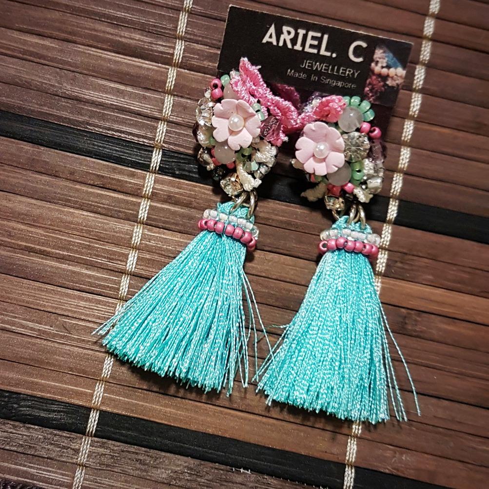   ART021  Turquoise Sakura Earrings