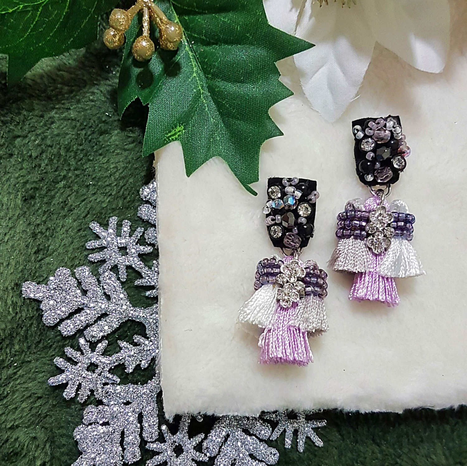 | ARS011 | Trio Lilac Earrings (NEW)