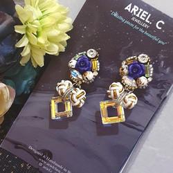 | AROF06| 秀-Luxuriant Rose Earrings