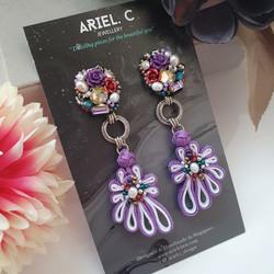 | AROF02| 娟-Graceful Bloom Earrings