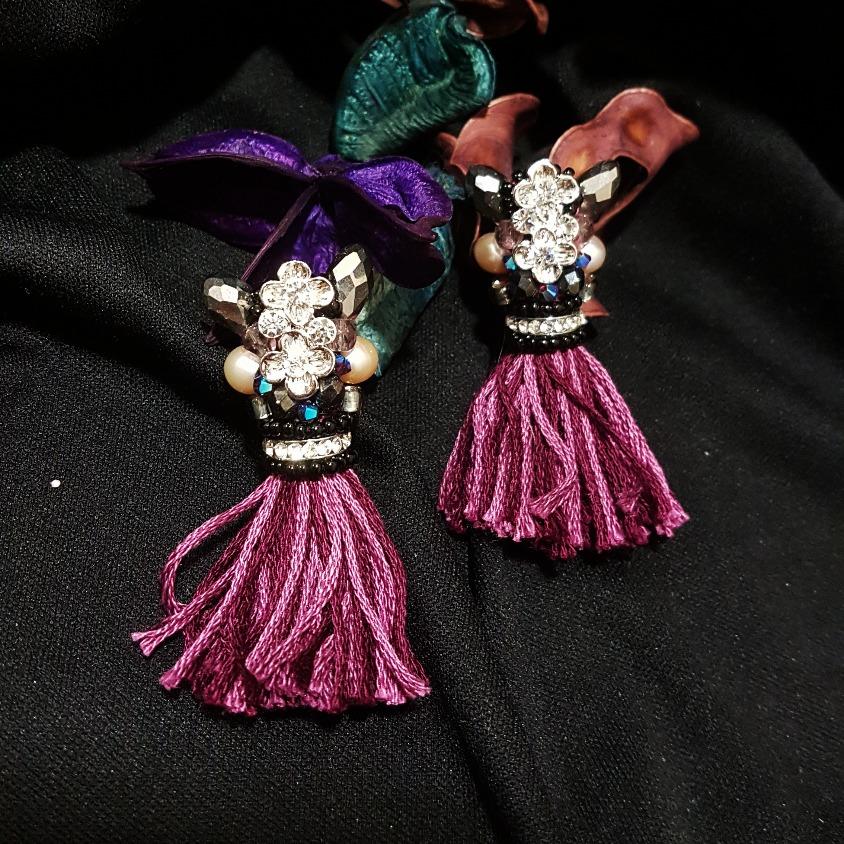 | ARF020 | Long tassel earrings