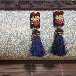 | ART020| Blue Oriental Earrings