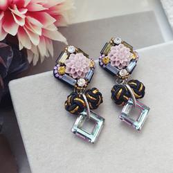| AROF19| 丽- Dahlia Delight Earrings