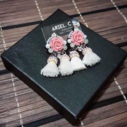 | ART024 | Blush Rosette Earrings
