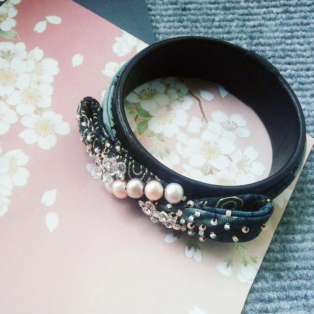 |ARS010| Kimono Pearl Bangle