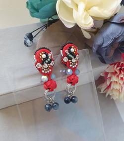 | AROF08| 珊- Coral Radiance Earrings