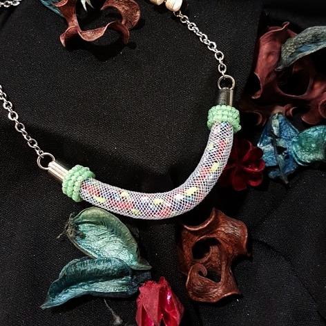 | ARF004 | Kumihimo necklace (Green)
