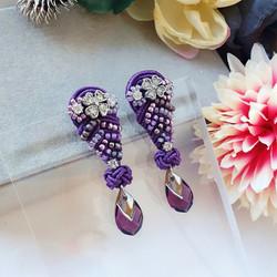   AROF22  紫- Purple Royale Earrings