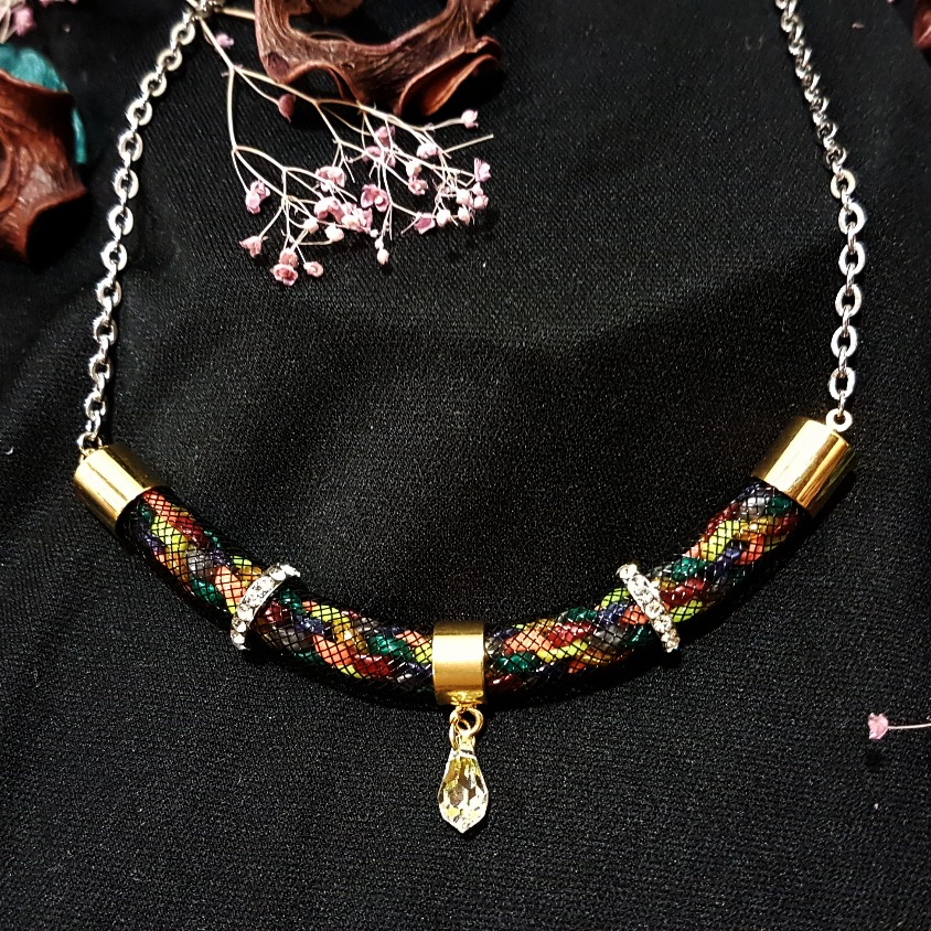 | ARF006 | Gold Kumihimo necklace