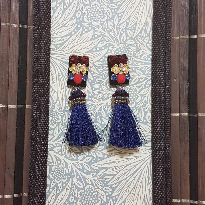   ART020  Blue Oriental Earrings