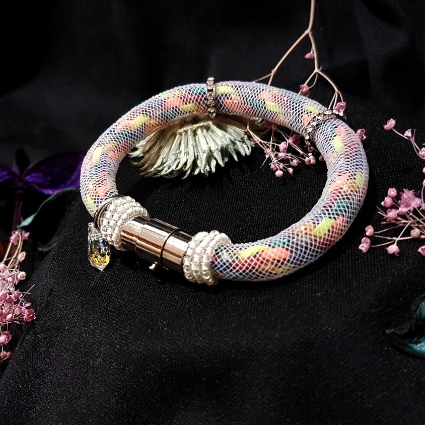| ARF012 | Kumihimo bracelet (White)