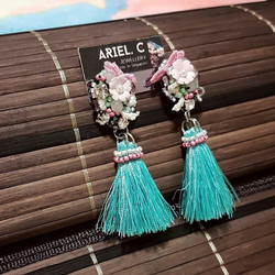 | ART021| Turquoise Sakura Earrings
