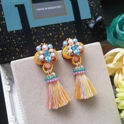 | AROF16| 霞- Flaxen Gleam Earrings