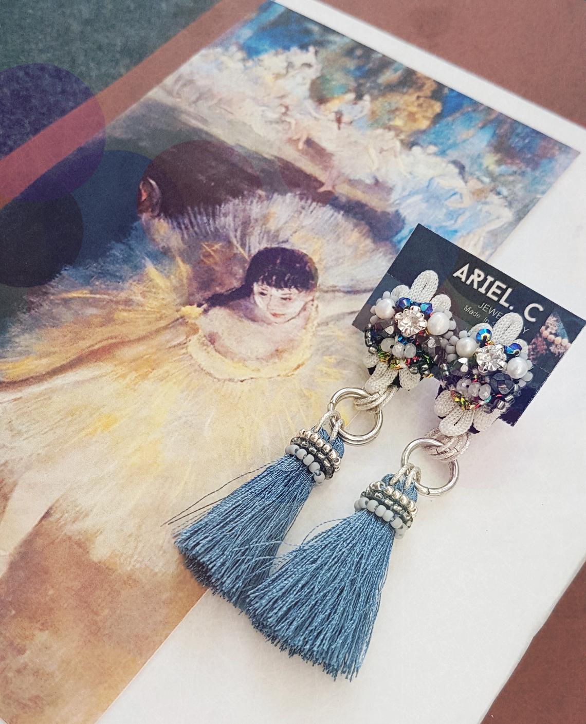 | ARB012 | Denim Blue Earrings