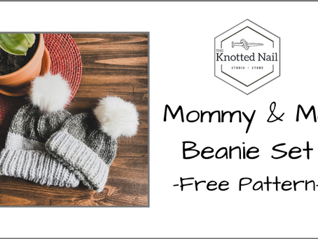Free Pattern Friday: Mommy & Me Beanie Set