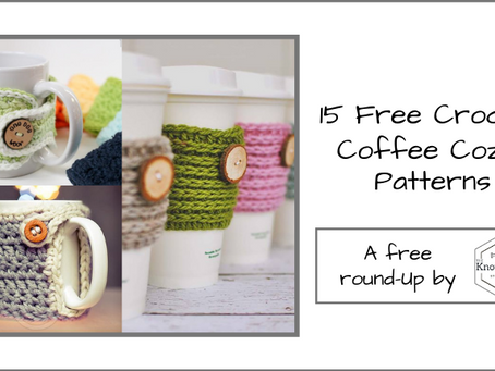 10 Free Crochet Coffee Cozy Patterns