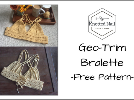 Free Pattern Friday: Geo-Trim Bralette!