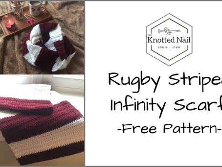 Free Pattern Friday: Rugby Striped Infinity Scarf!