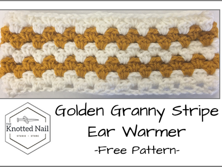 Free Pattern Friday: Golden Granny Stripe Ear Warmer!