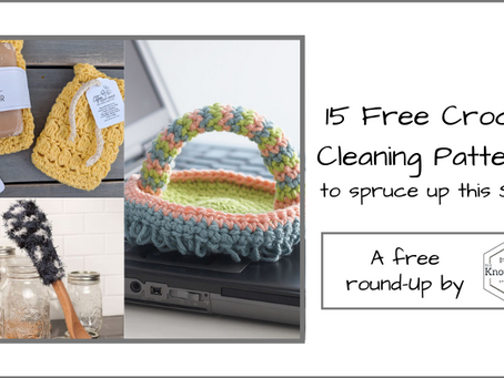 15 Free Crochet Cleaning Hacks to Spruce up this Spring!