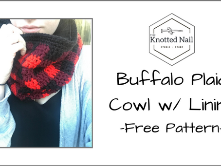 Free Pattern Friday: Buffalo Plaid Cowl w/ Cozy Fabric Lining