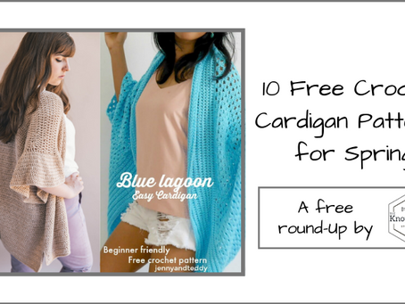 10 Free Crochet Cardigan Patterns for Spring!