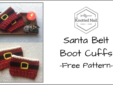 Free Pattern Friday: Santa Belt Boot Cuffs!