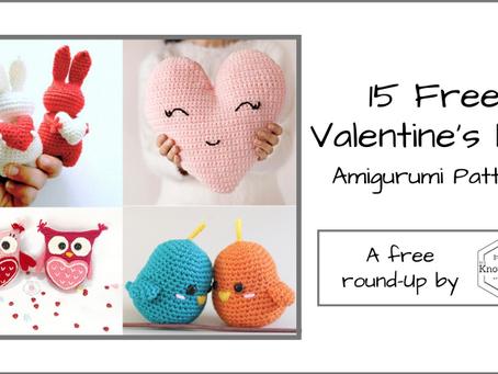 15 Free Valentine's Day Amigurumi Patterns!