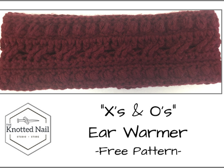 "Free Pattern Friday: ""X's & O's"" Ear Warmer!"