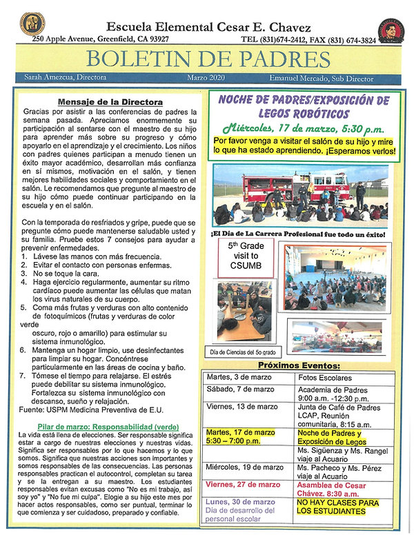 March Newsletter Spanish.jpg