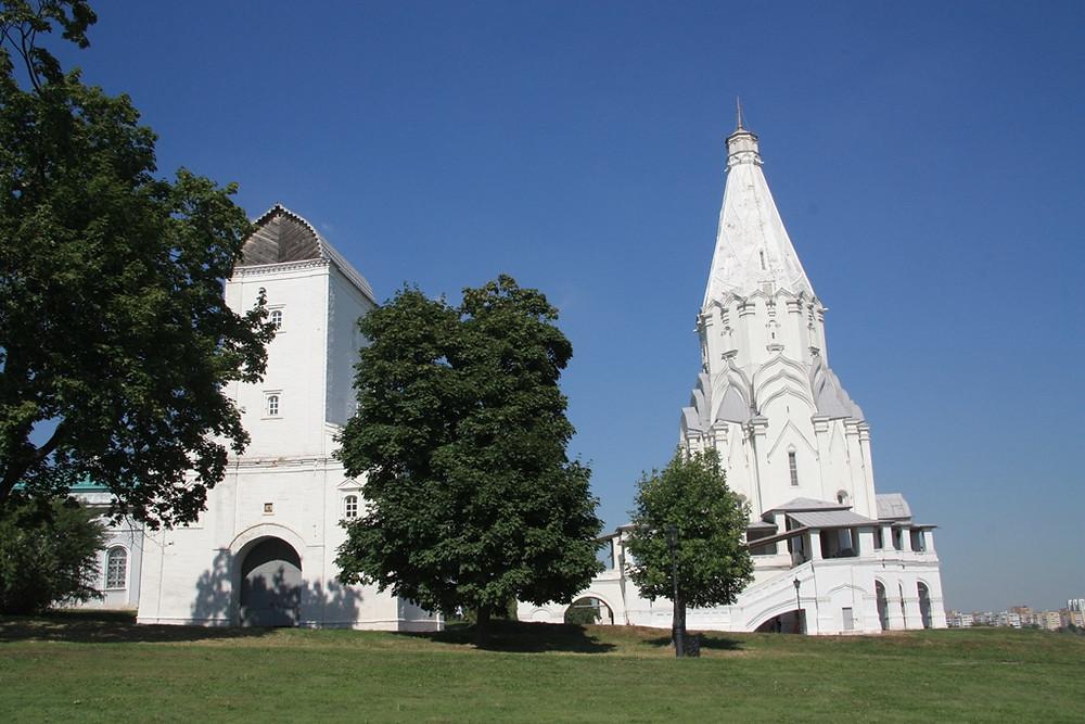 Церковь Вознесения В Коломенском, Водовзводная башня. Семейный сайт Татьяны и Игоря Филаткиных.