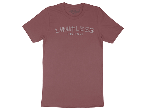 Outlined LIMITLESS T-  Mauve